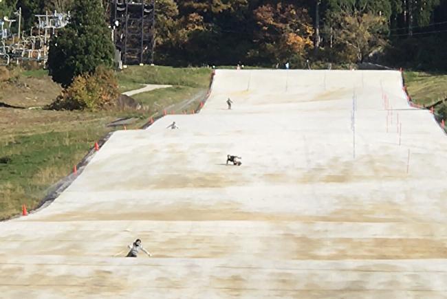 野沢温泉スポーツ公園のサマーゲレンデ
