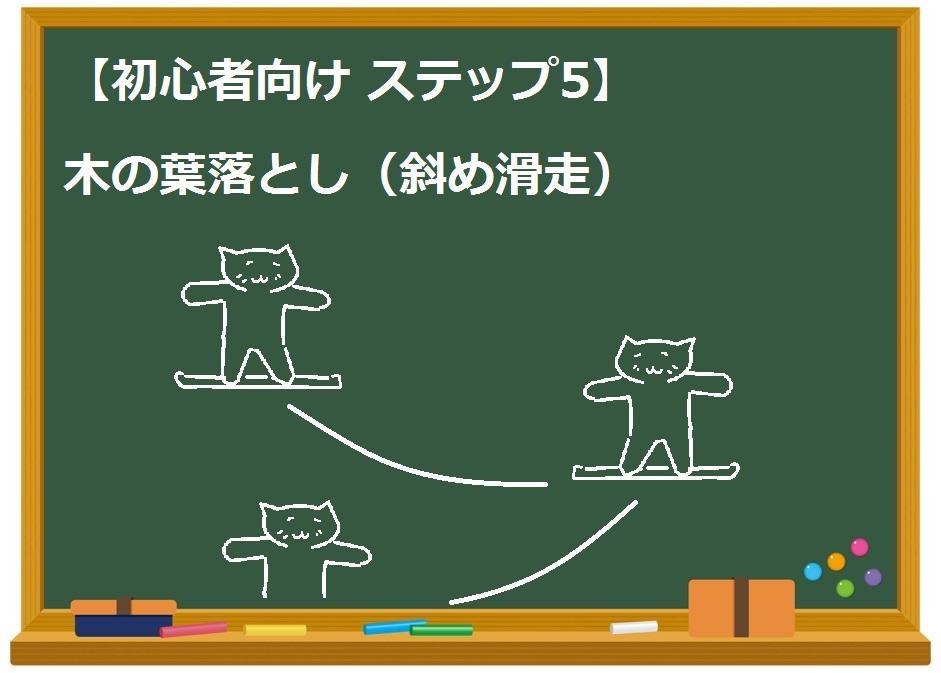 【初心者向け ステップ5】木の葉落とし(斜め滑走)