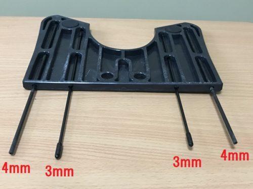 内側と外側のカーボンロッドの太さを変えるパターン