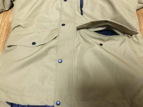 ファスナー付き大型ポケット