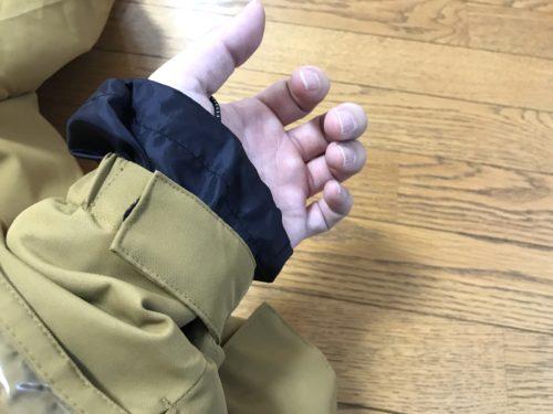 袖口サムループ