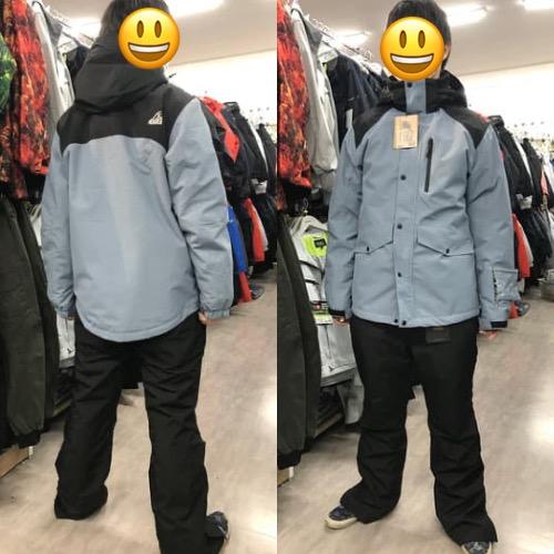 イージス スノー防水防寒ジャケット・パンツ スチールグレー